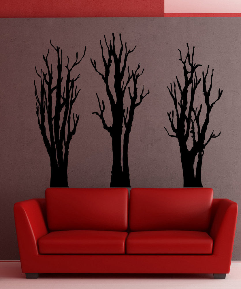 Vinyl Wall Decal Sticker Three Bare Trees 5305