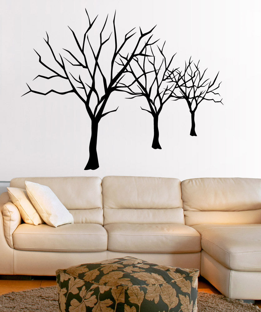 Vinyl Wall Decal Sticker Bare Trees Lineup #5307