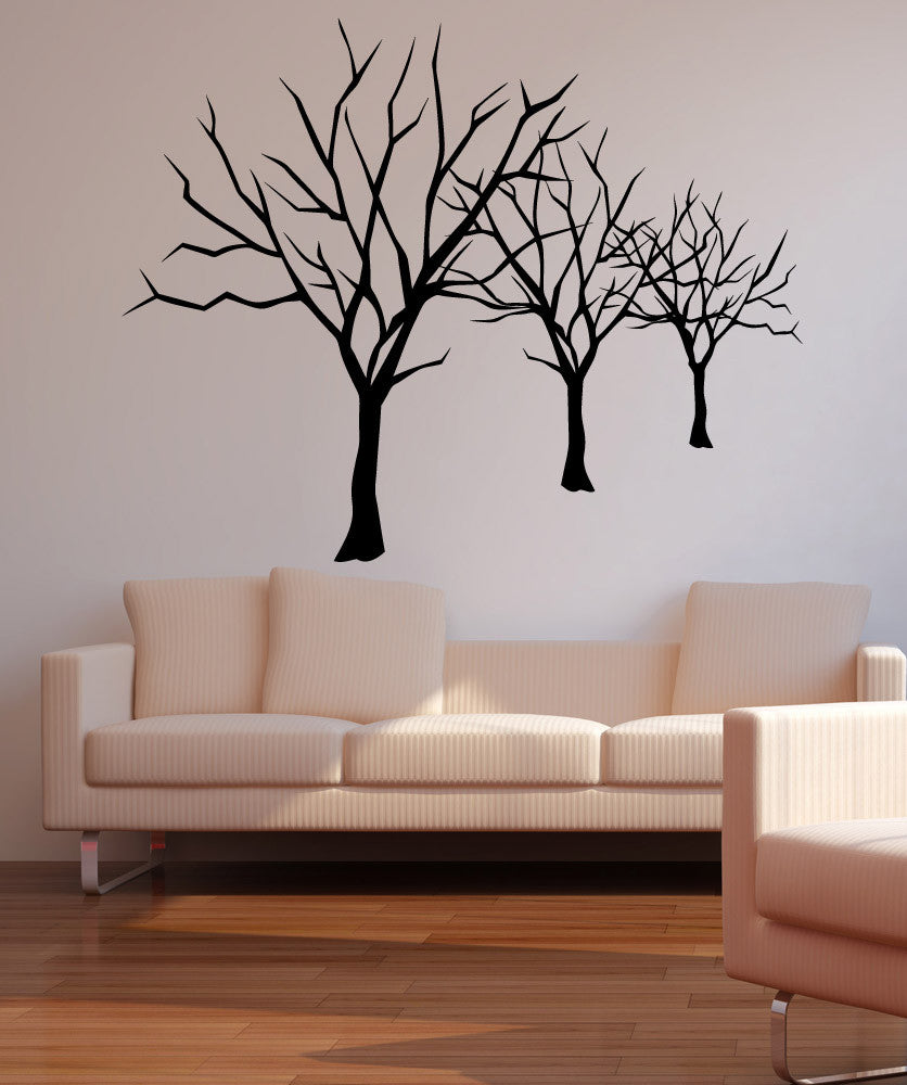Vinyl wall decal sticker bare trees lineup 5307 amipublicfo Choice Image