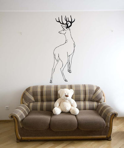 Vinyl Wall Decal Sticker Behind Deer #5316