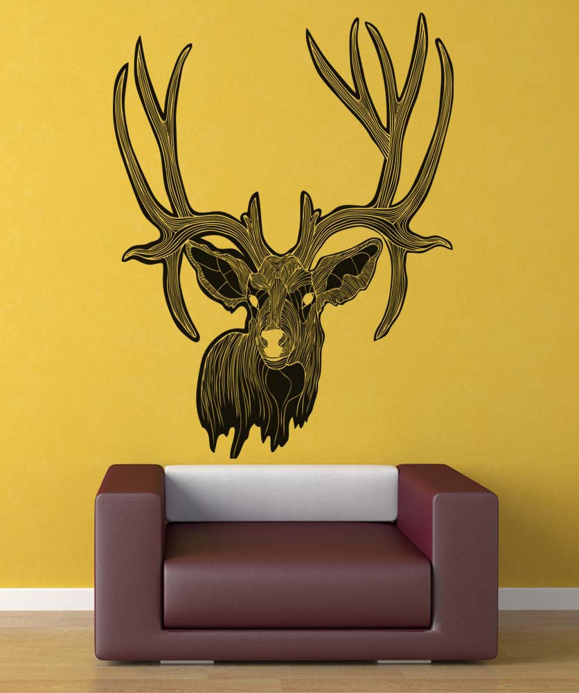 Colorful Stag Wall Decor Ornament - Art & Wall Decor - hecatalog.info