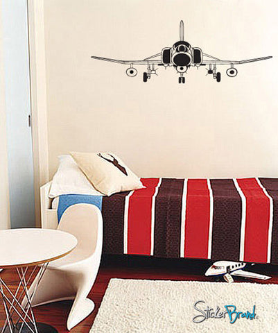 Vinyl Wall Decal Sticker Front Fighter Jet #531