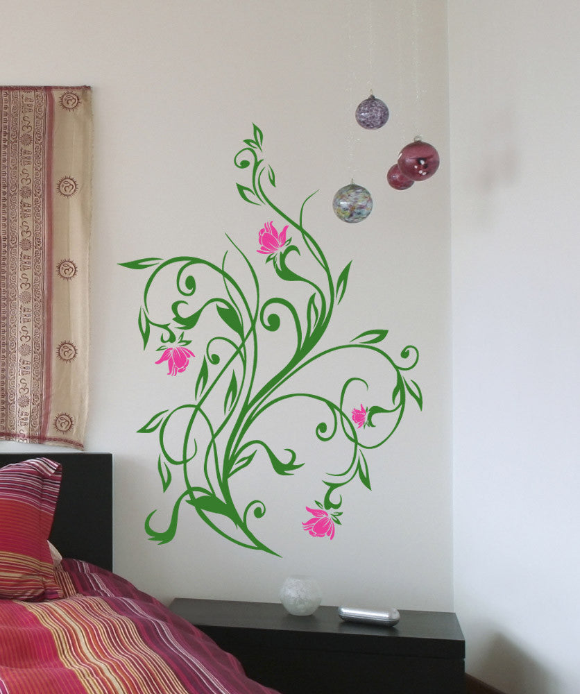 Vinyl Wall Decal Sticker Flower Vines 5321