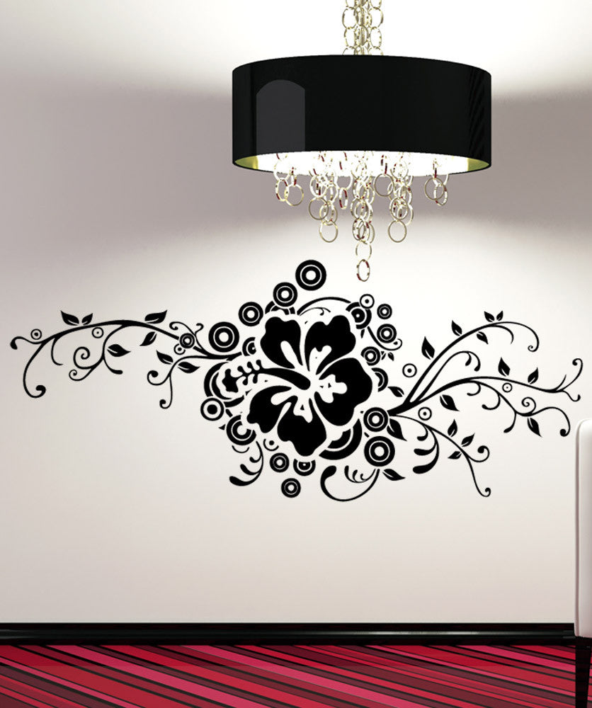 sc 1 st  StickerBrand & Vinyl Wall Decal Sticker Hibiscus Design #5325