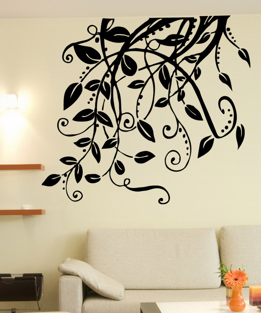 Vinyl Wall Decal Sticker Hanging Leaves And Vines - Wall decals leaves