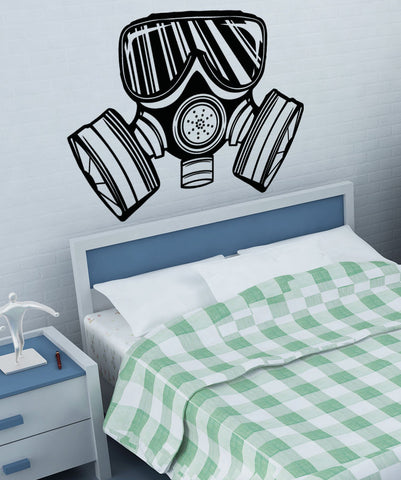 Vinyl Wall Decal Sticker Small Gas Mask #5331