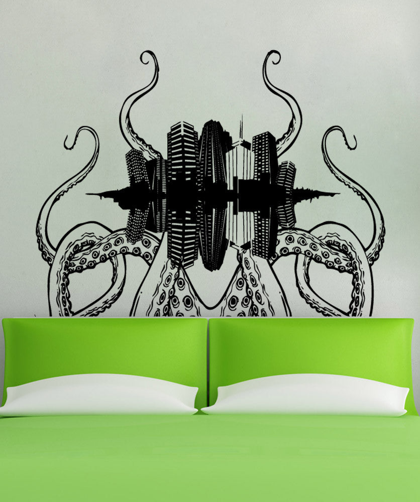 Vinyl Wall Decal Sticker Tentacle City #5343