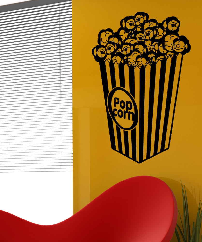 Vinyl Wall Decal Sticker Popcorn Bucket #5346