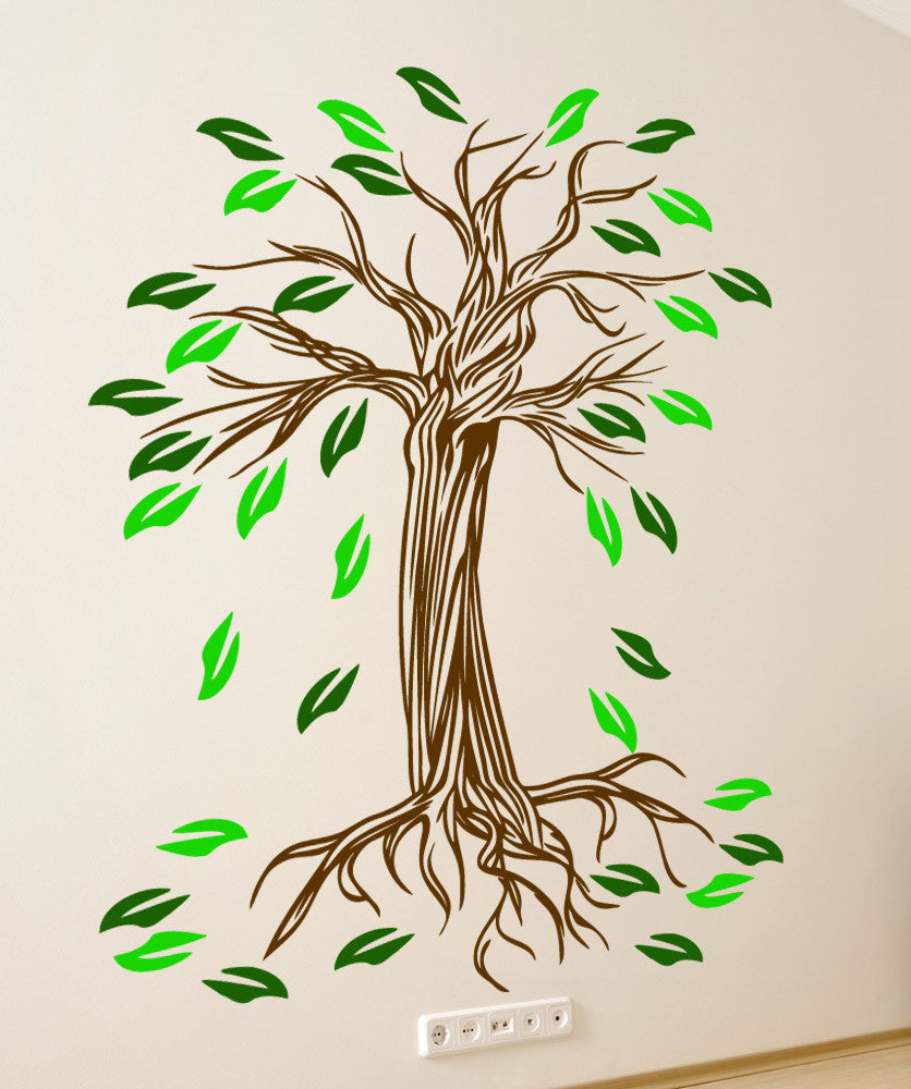 Vinyl Wall Decal Sticker Wiry Tree #5349