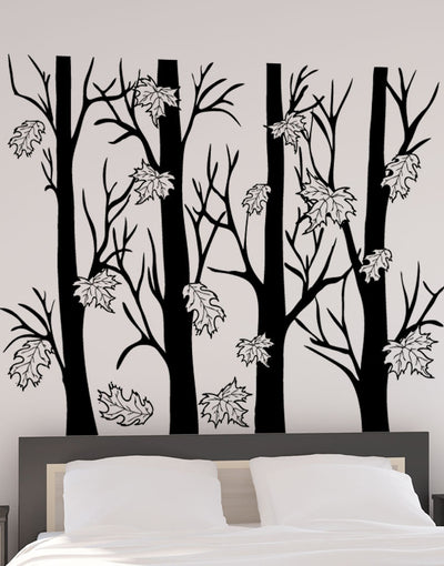 Vinyl Wall Decal Sticker Tree With Roots - Wall decals of trees