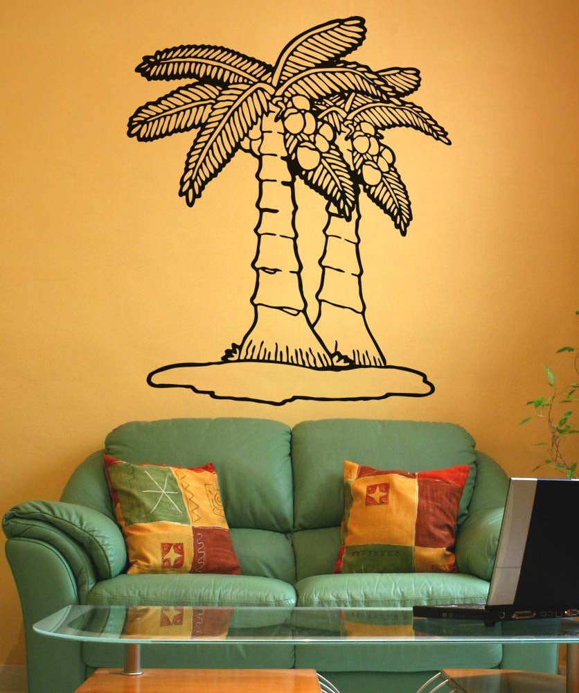 Vinyl Wall Decal Sticker Short Palm Trees #5352