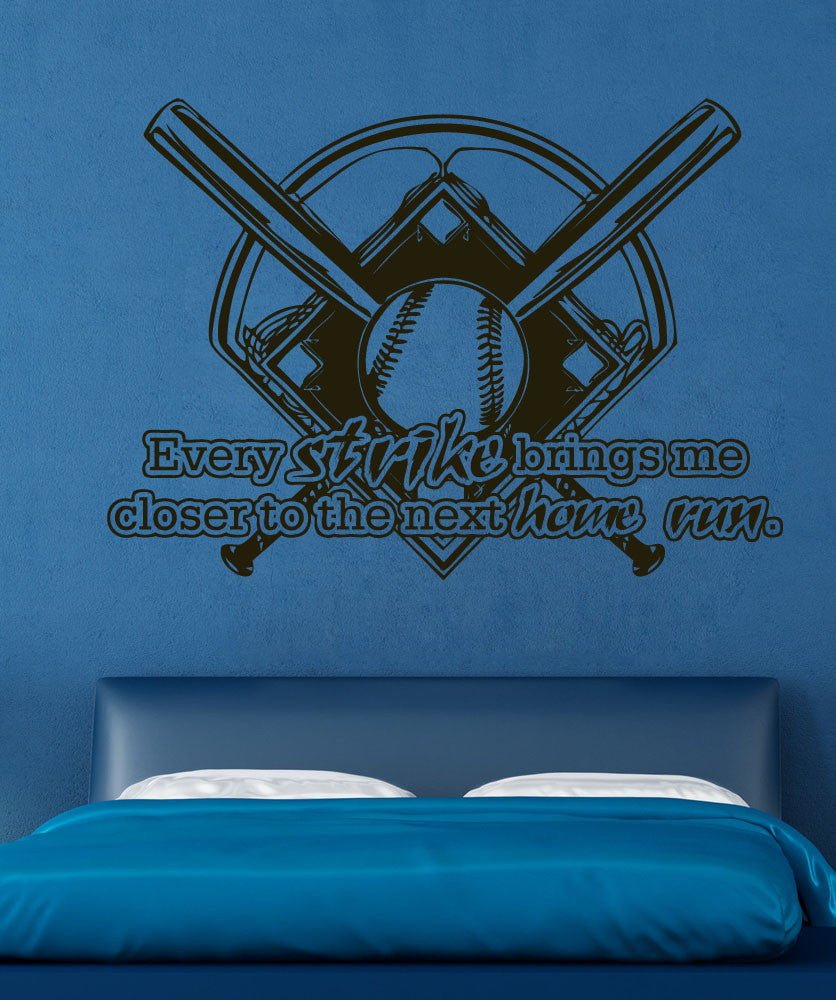 Vinyl Wall Decal Sticker Baseball Motivation #5367
