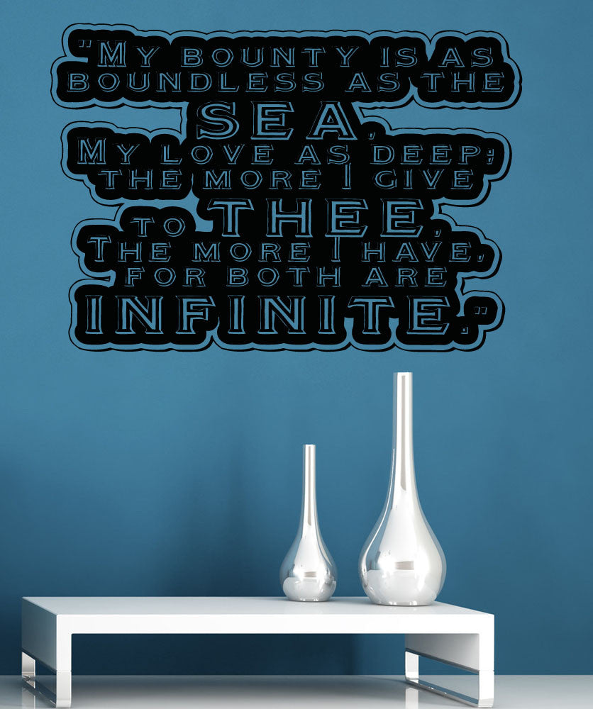 Vinyl Wall Decal Sticker Boundless As The Sea #5368