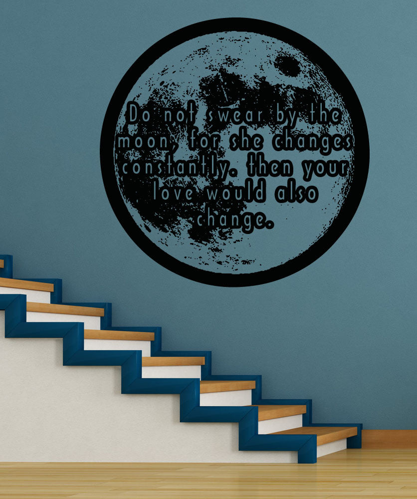 Vinyl Wall Decal Sticker Swear By The Moon #5371
