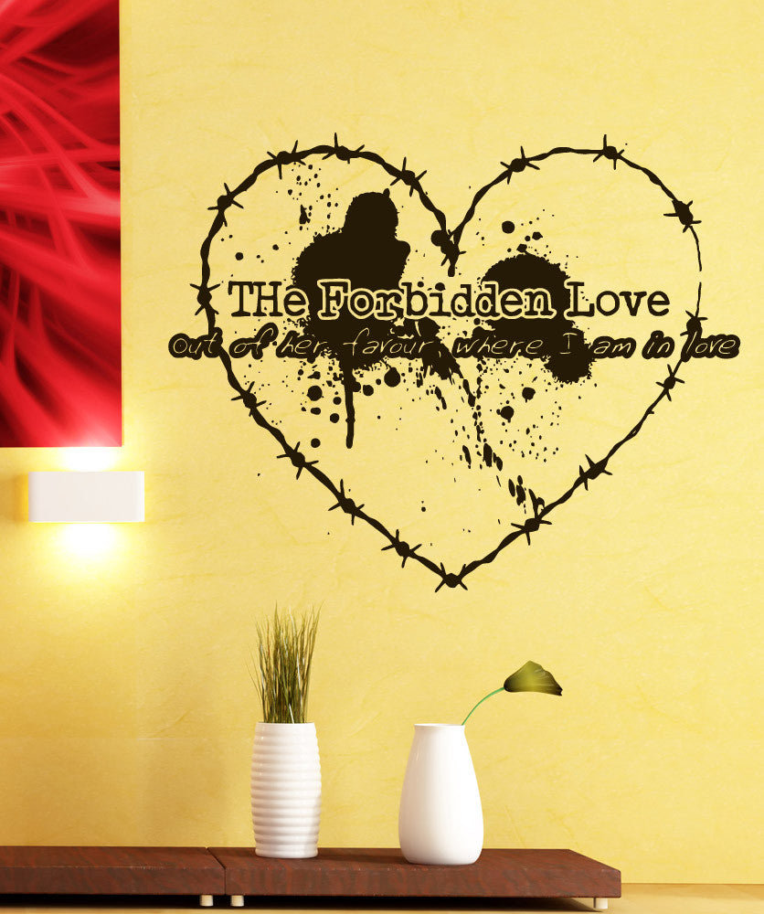 Vinyl Wall Decal Sticker Forbidden Love Quote #5378