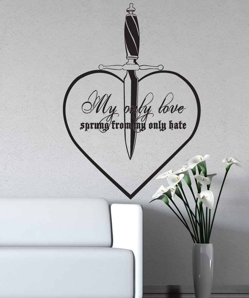 Vinyl wall decal sticker my only love quote 5380 amipublicfo Choice Image