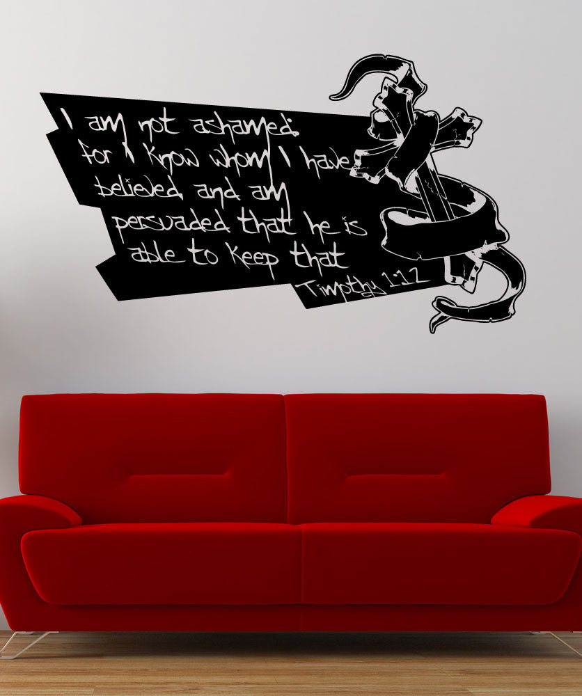 Vinyl Wall Decal Sticker Timothy 1:12 #5383