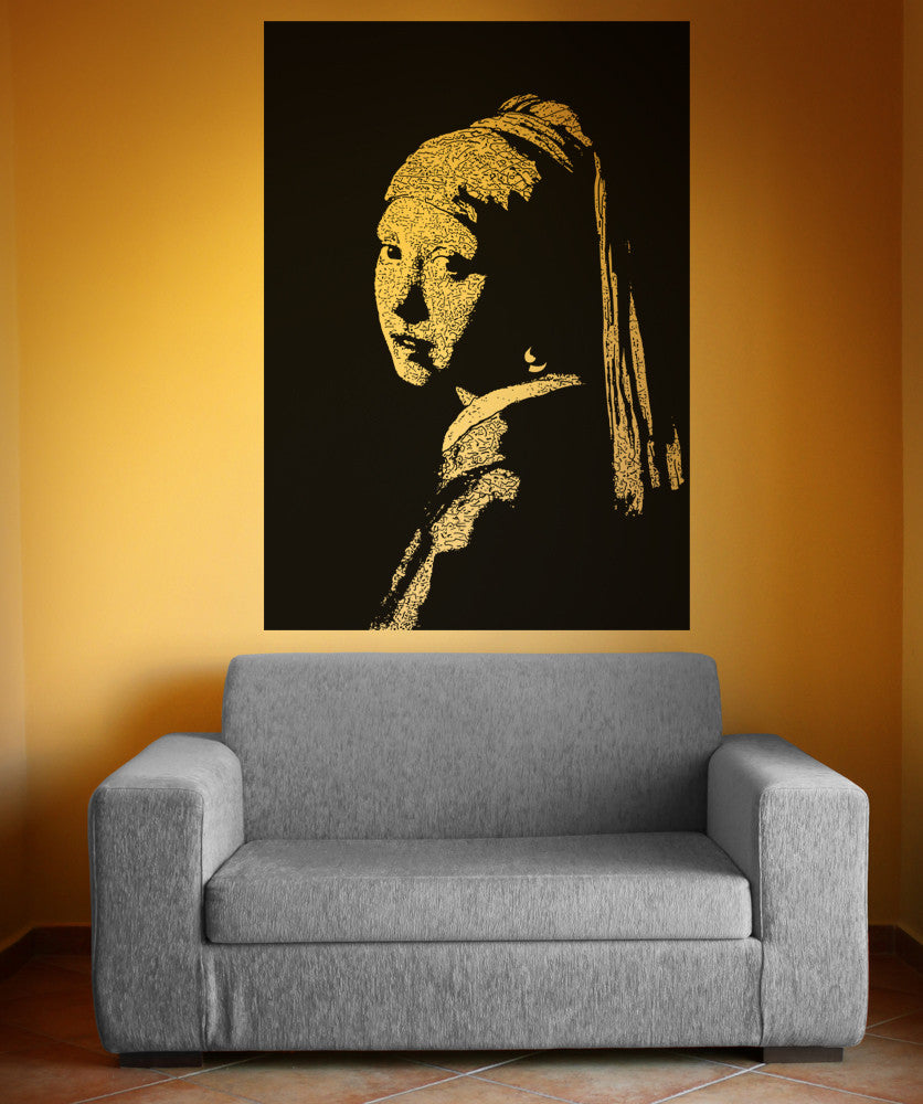 Vinyl Wall Decal Sticker Girl With Pearl Earring #5395