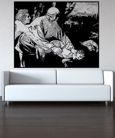 Vinyl Wall Decal Sticker Sacrifice Of Isaac #5406
