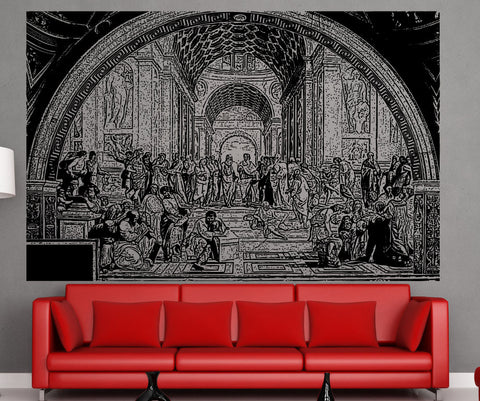 Vinyl Wall Decal Sticker School Of Athens #5408