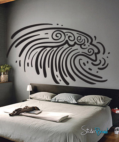Vinyl Wall Decal Sticker Ocean Wave #540
