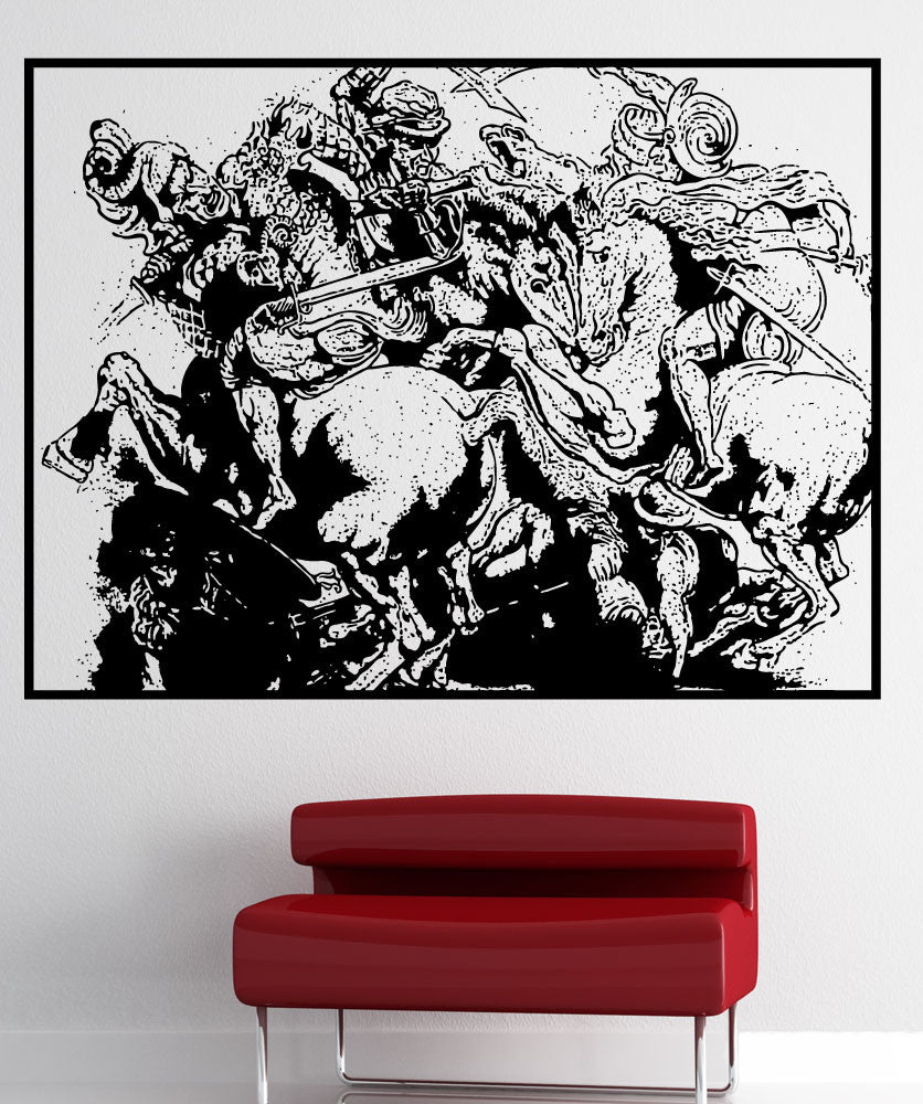 Vinyl Wall Decal Sticker The Battle Of Anghiari #5412