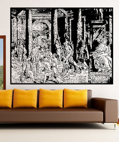 Vinyl Wall Decal Sticker The Baptism Of Constantine #5418