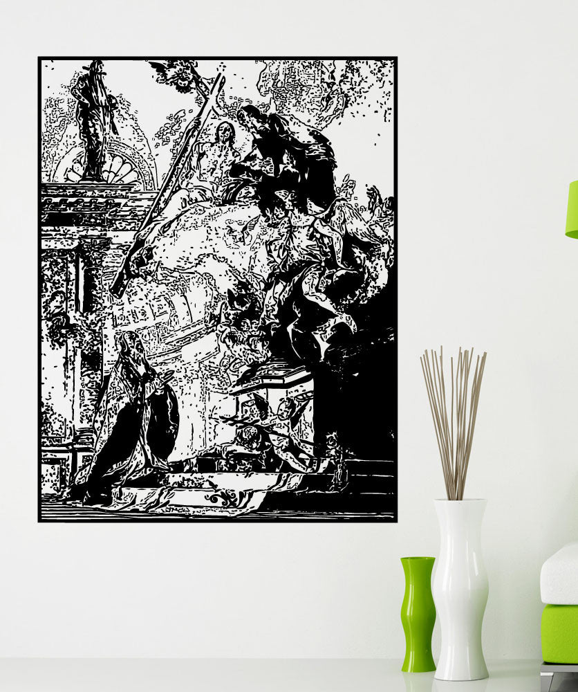 Vinyl Wall Decal Sticker Vision Of St. Clement #5420