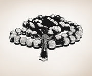 Vinyl Wall Decal Sticker Rosary Beads #5423