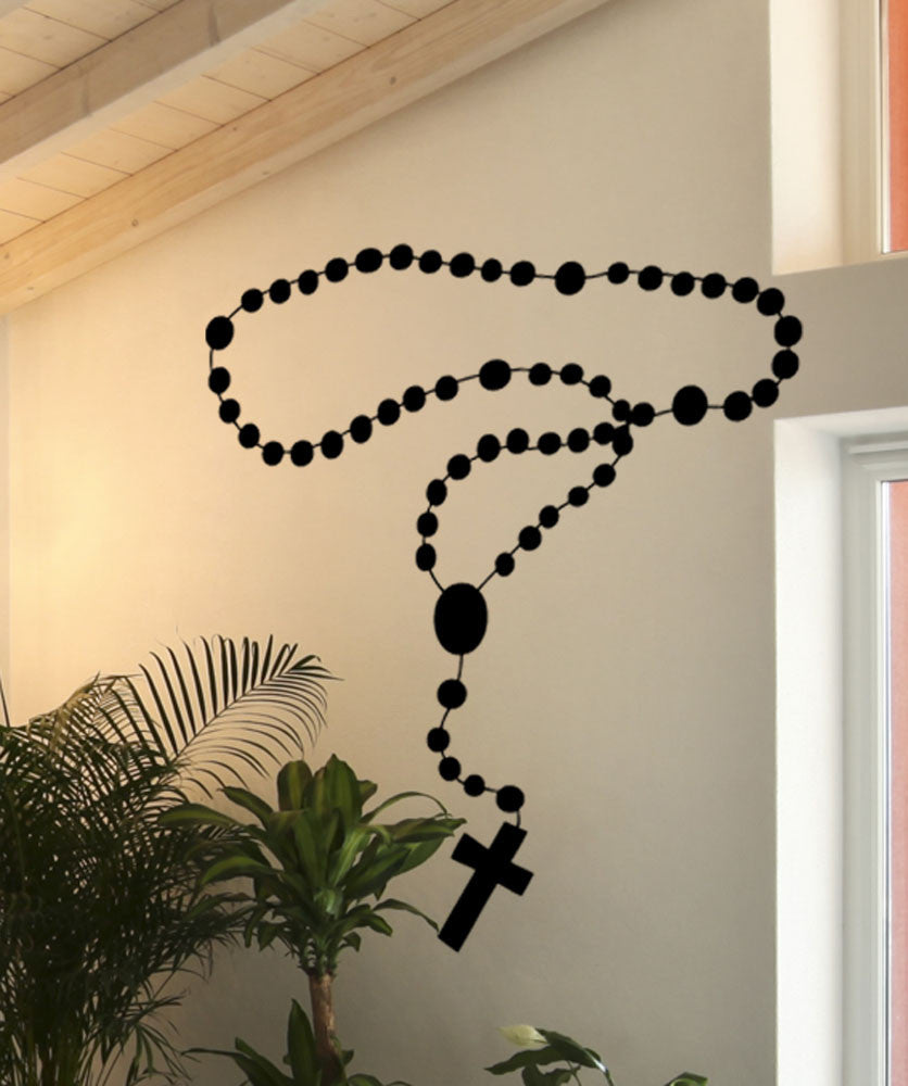 Vinyl Wall Decal Sticker Rosary #5424