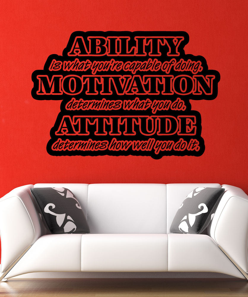 Vinyl Wall Decal Sticker Ability Quote #5431