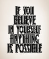 Vinyl Wall Decal Sticker If You Believe Quote #5439