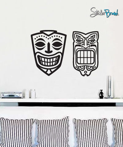 Vinyl Wall Decal Sticker Hawaiian Tiki Mask #543