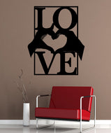 Vinyl Wall Decal Sticker Heart Hands With Love #5443