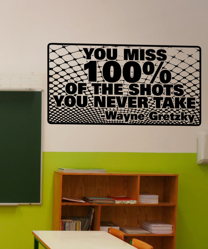 Vinyl Wall Decal Sticker Wayne Gretzky Quote #5444