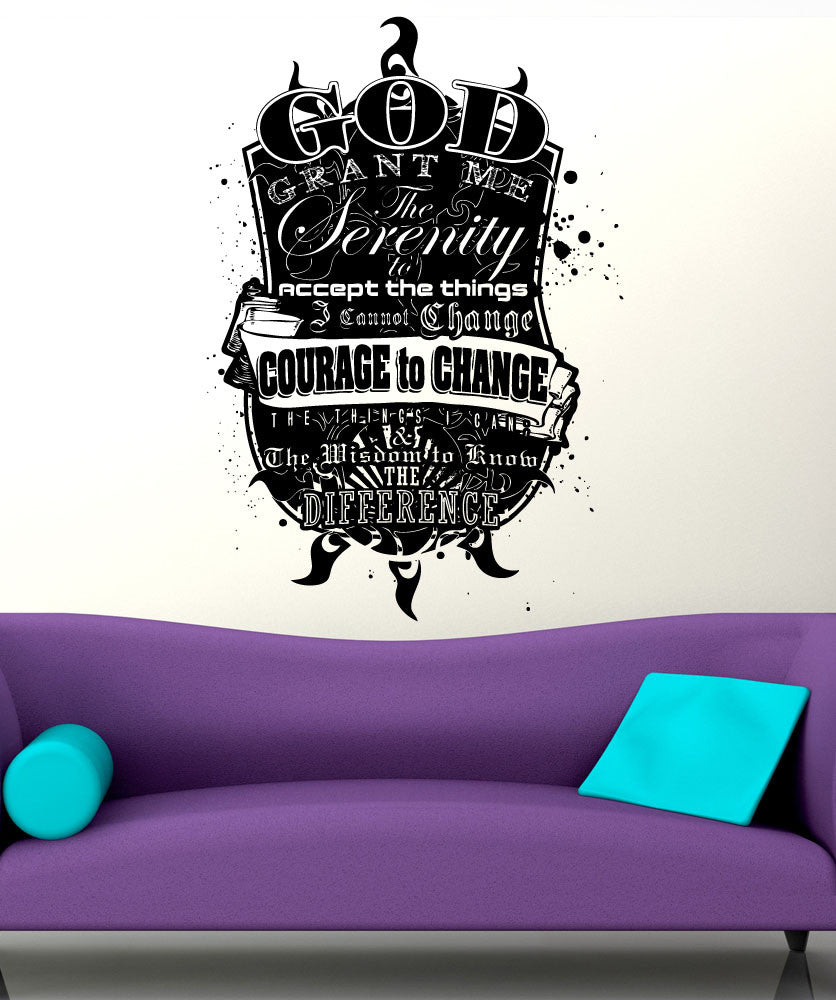 Vinyl Wall Decal Sticker Serenity Prayer #5448