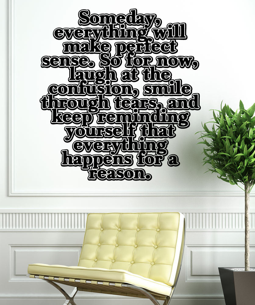 Vinyl Wall Decal Sticker Everything Happens For A Reason #5449