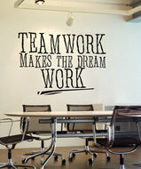 Vinyl Wall Decal Sticker Teamwork Dream Work #5453