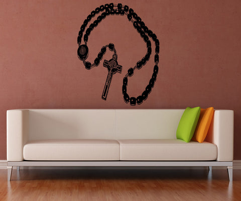 Vinyl Wall Decal Sticker Detailed Rosary #5458