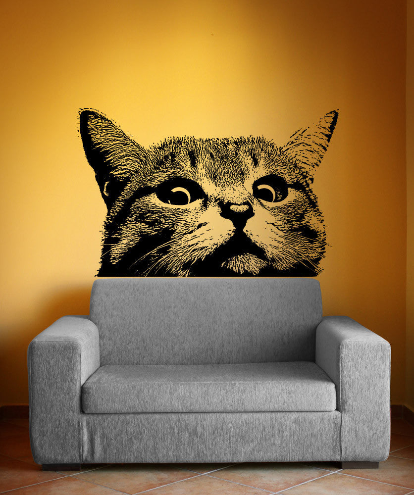 Vinyl Wall Decal Sticker Staring Cat 5475