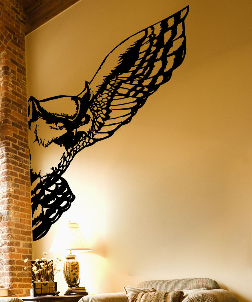 Vinyl Wall Decal Sticker Owl Wing #5481