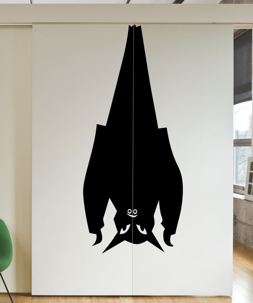 Vinyl Wall Decal Sticker Hanging Bat #5489