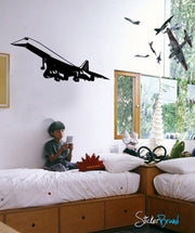 Vinyl Wall Decal Sticker Concord Plane #548