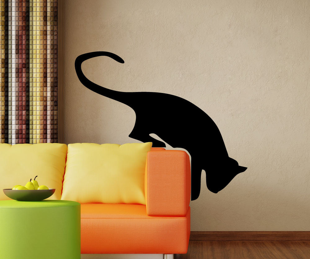 Vinyl wall decal sticker hanging cat 5491 amipublicfo Gallery