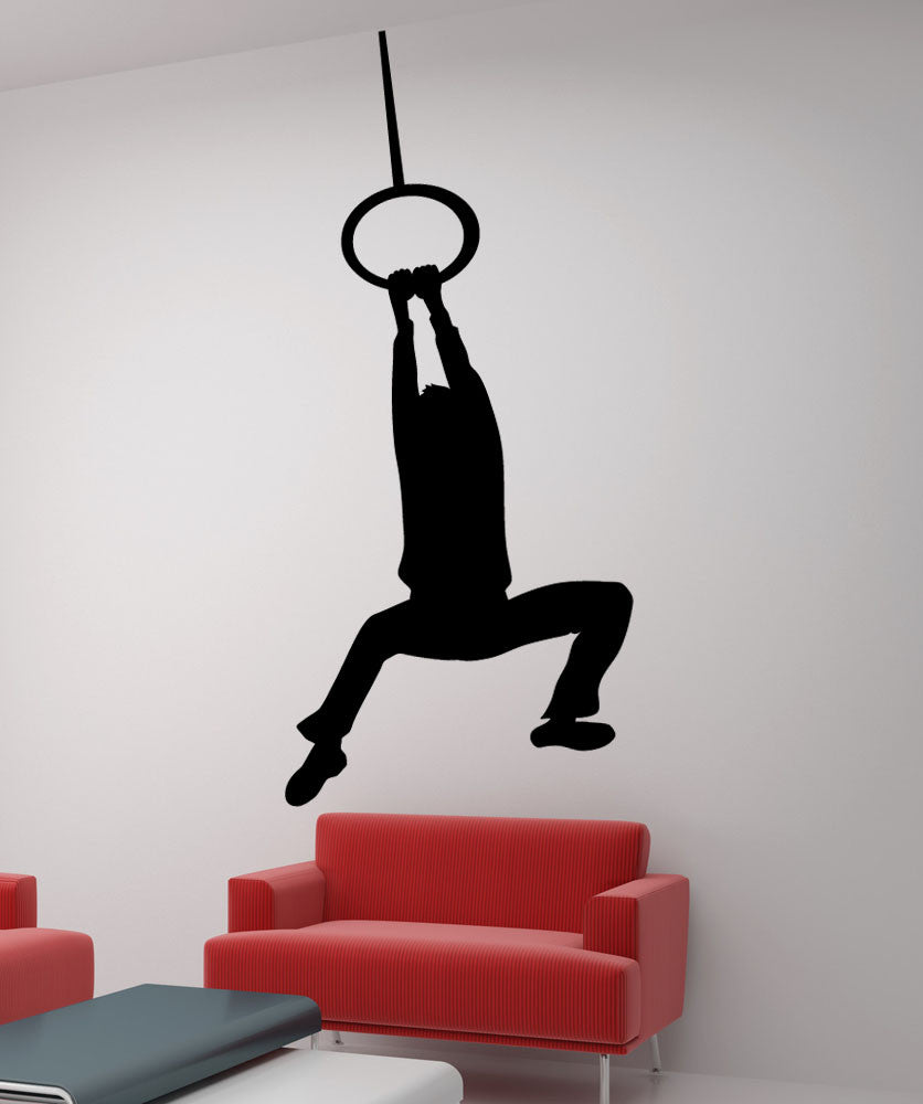 Vinyl Wall Decal Sticker Hanging Man #5494