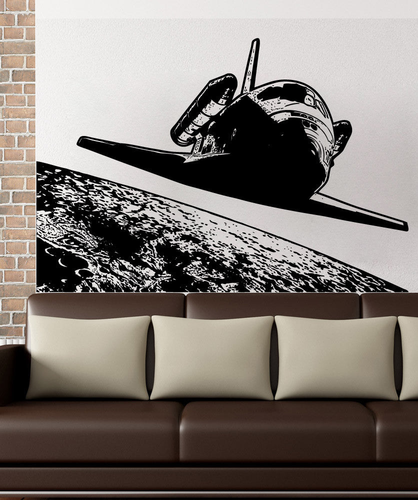 Vinyl Wall Decal Sticker Orbiting Shuttle #5499