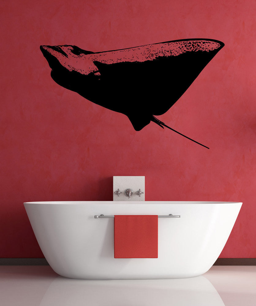 Vinyl Wall Decal Sticker Swimming Stingray #5501