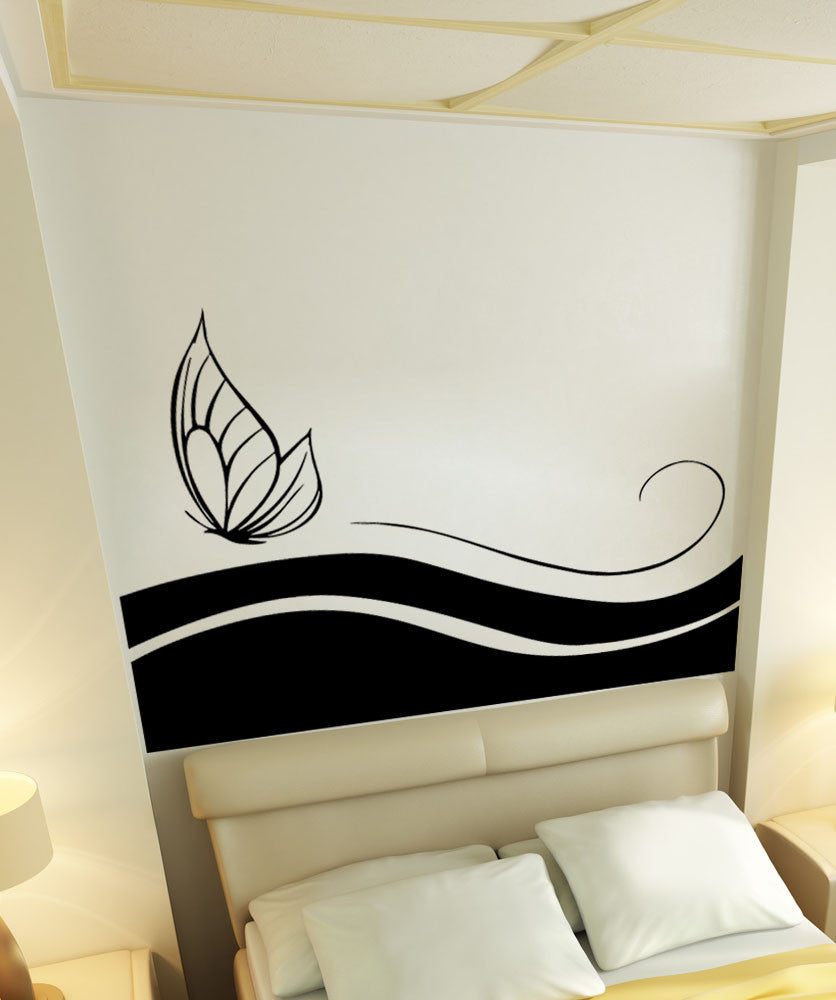 Vinyl Wall Decal Sticker Butterfly Leaves Design #5505