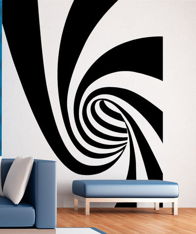 Swirl Wormhole Design Vinyl Wall Decal Sticker. #5508
