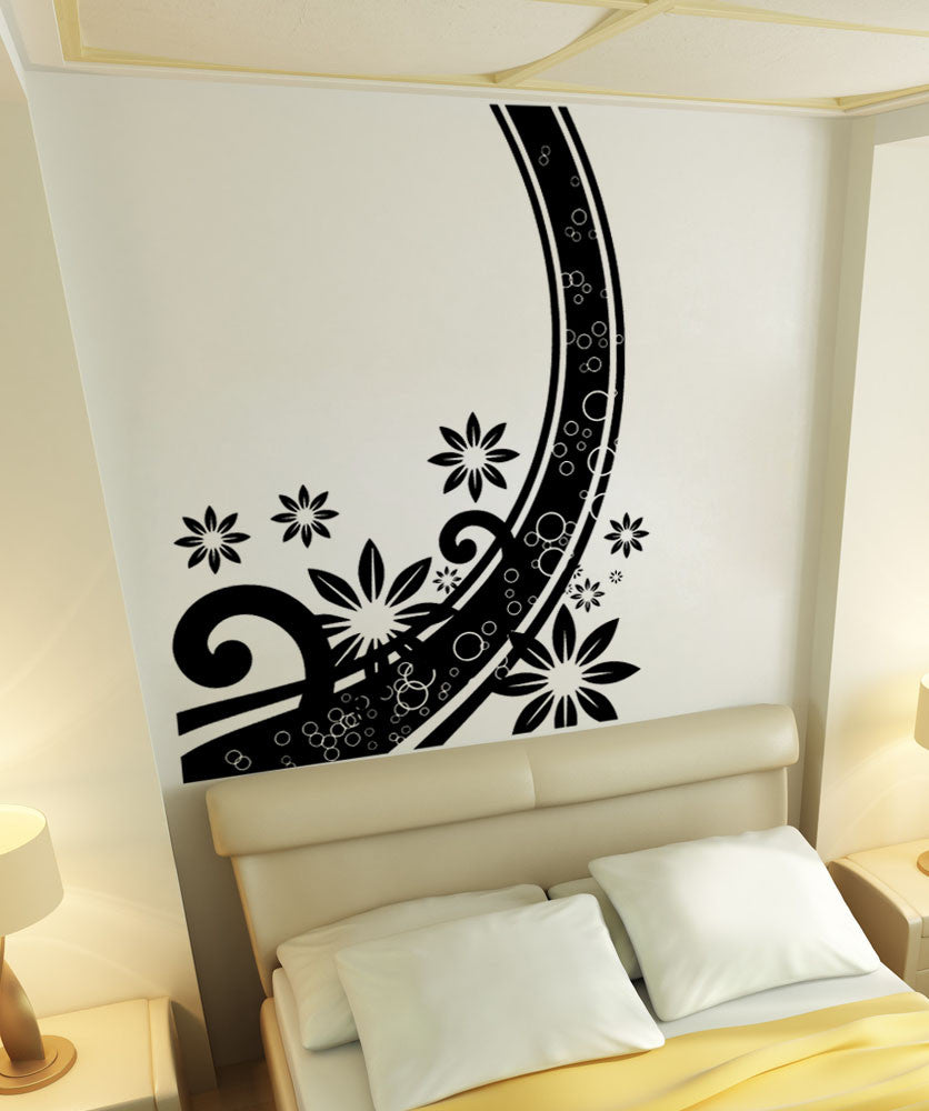 Vinyl Wall Decal Sticker Abstract Flower Curve 5509